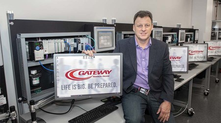Michael Cook with Gateway logo